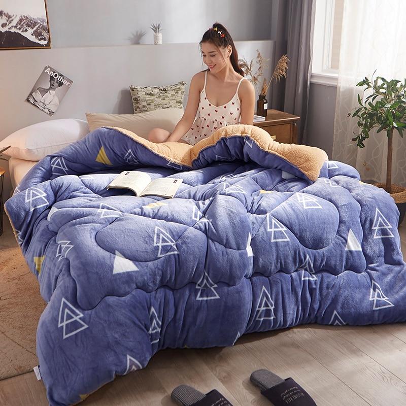 عالية الجودة الدافئة الجمل المعزي رشاقته الدافئة لحاف من القطن بطانية متعددة الألوان اختيار الشتاء خليط لحاف لحاف من الصوف