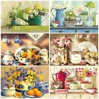diy paint by number cup hand painted painting art gift drawing on canvas pictures by numbers flower kits home decor