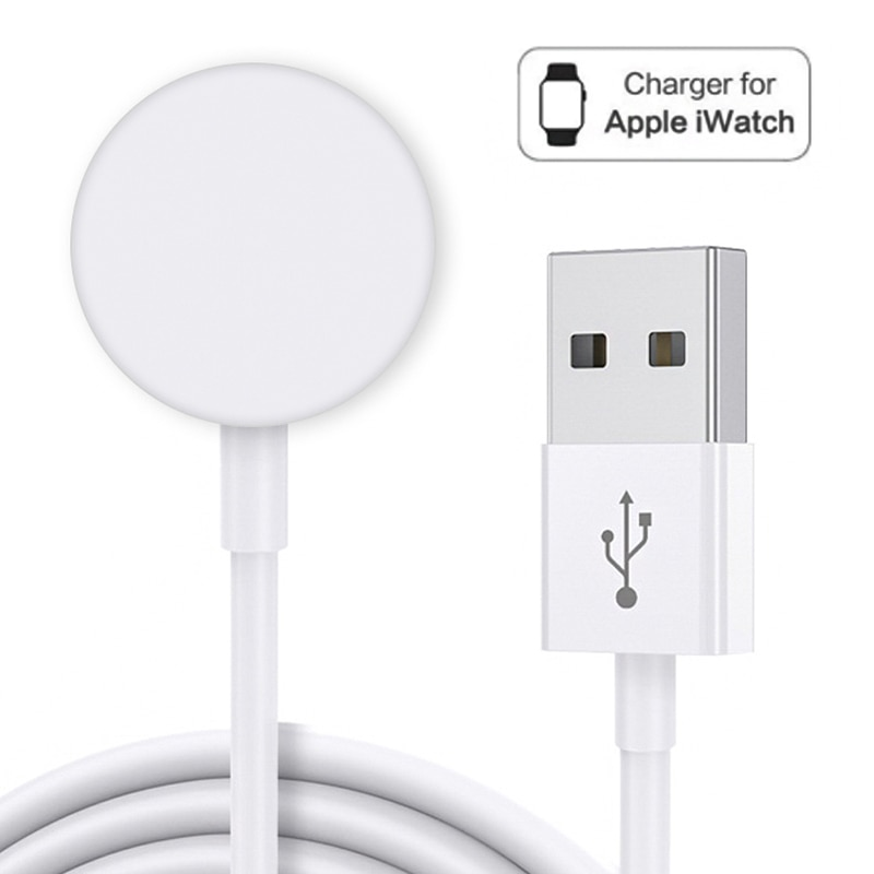 Auto Stop Portable Aluminum Alloy USB Home Charging Cable Pad Magnetic Fast Wireless Charger Desktop For Smart Iwatch 5 4 3 2 1