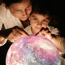 3D Moon Lamp Magic Star Projector LED Night Light for Kids Change Touch Remote Control Timing Galaxy