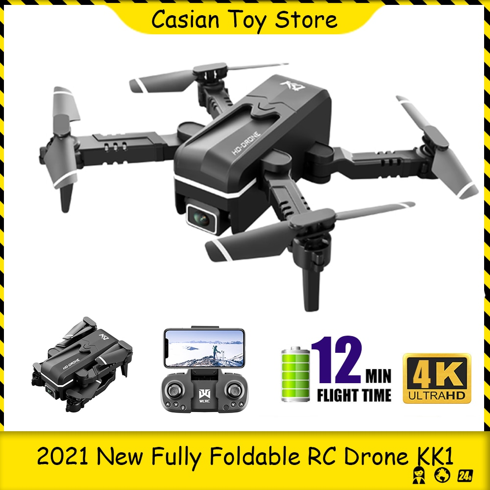 RC Drone Quadcopter RTF KK1 Mini WiFi FPV with 4K Dual HD Camera Altitude Hold Mode Foldable Remote Control helicopter Mini Dron enlarge