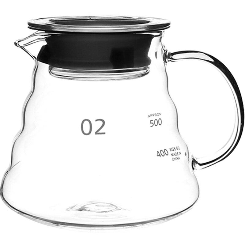 Jarra grande de café Espresso Mocha, jarra de vidrio para espuma de leche, jarra de café italiana Barista, jarra de café de cristal de pavo II50KFH