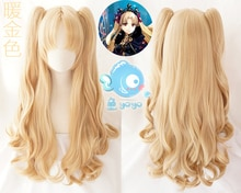 Irkalla Ereshkigal perruque FGO destin Grand ordre Cosplay perruques bouclés blond clair résistant à la chaleur perruques de cheveux + bonnet de perruque