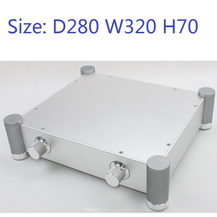 Boyutu d280 W320 H70 DAC amplifikatör durumda alüminyum şasi güç kaynağı DIY durumda WA70 tüm alüminyum saf arka sahne amplifikatörü