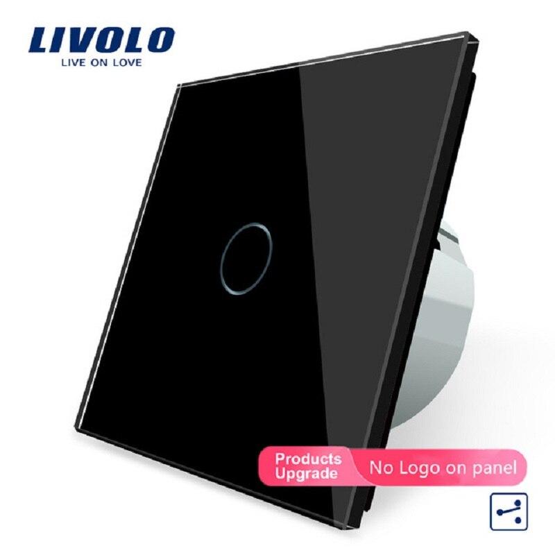 Livolo الاتحاد الأوروبي الموحدة ، الجدار التبديل ، VL-C701S-12 ، 1 عصابة 2 طريقة التحكم ، كريستال لوحة زجاج ، الجدار الخفيفة تعمل باللمس التبديل
