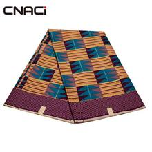 CNACI véritable cire africaine Ankara Tissus Ghana Kente tissu 6 Yards/pièce Tissus Africain Ankara cire tissu imprimé Ghana Kente