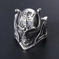 secret new cool demon skull ring men stainless steel biker skull ring punk male domineering charm jewelry drop shipping size7 12