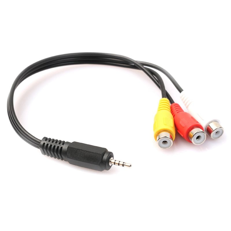 2,5mm Mini AV Männlichen zu 3RCA Weibliche M/F Audio Video Kabel Stereo Jack Adapter Kabel