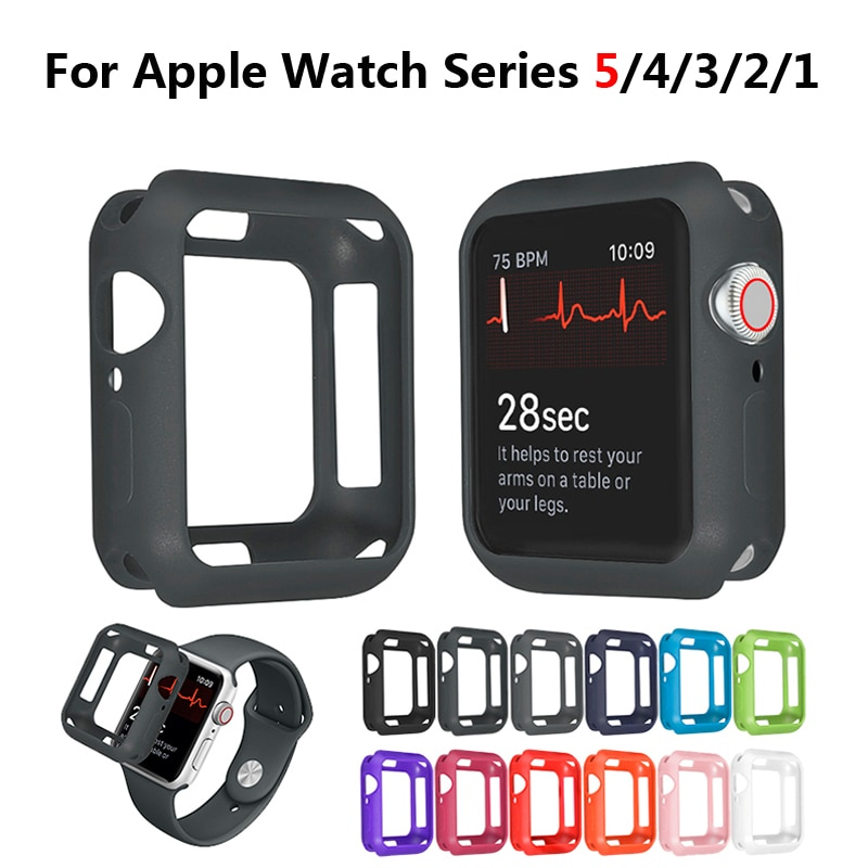 cartoon style protective frame bumper anti scratch case for iwatch 5 4 3 2 1 tpu cover full case for apple watch 44 40 42 38mm Watch Case for Apple Watch 5 4 3 38MM 42MM Soft Silicone Full Protective Cases Bumper for iWatch 4/5 44MM 40MM Watch Cover Armor