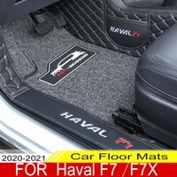 car floor mats for haval f7 f7x 2020 2021 double layer custom auto foot pads automobile carpet cover interior floorliner