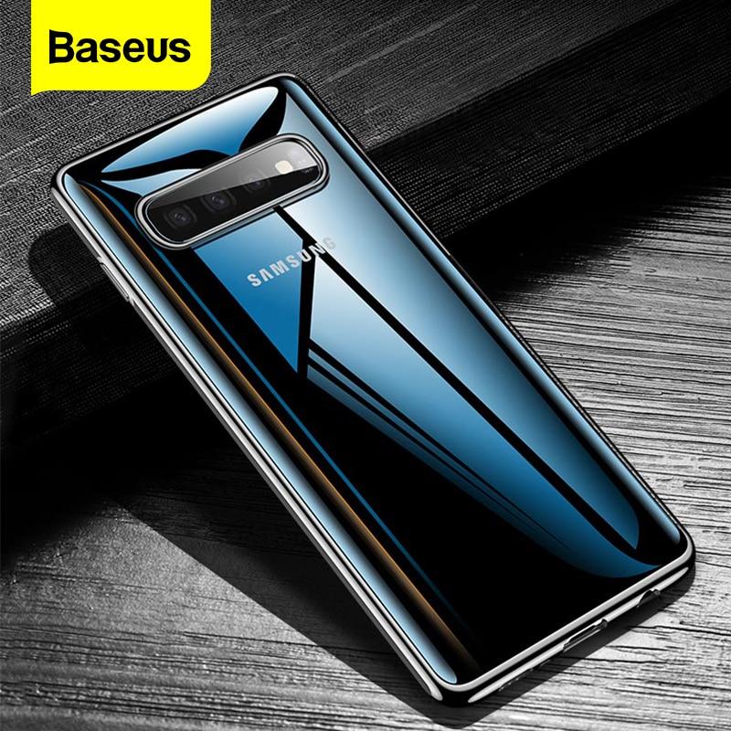 Baseus Case For Samsung Galaxy S10 Plus Ultra Thin Slim Transparent Soft TPU Silicone Cover For Galaxy S10 S 10 Plus Coque Funda
