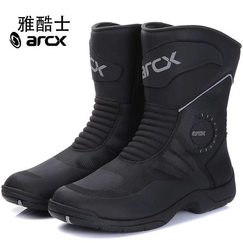 أحذية جلدية للدراجات النارية عالية الجودة قابلة للتنفس ، أحذية جلدية للدراجات النارية ، أحذية الكاحل ، مقاس 39 - 45