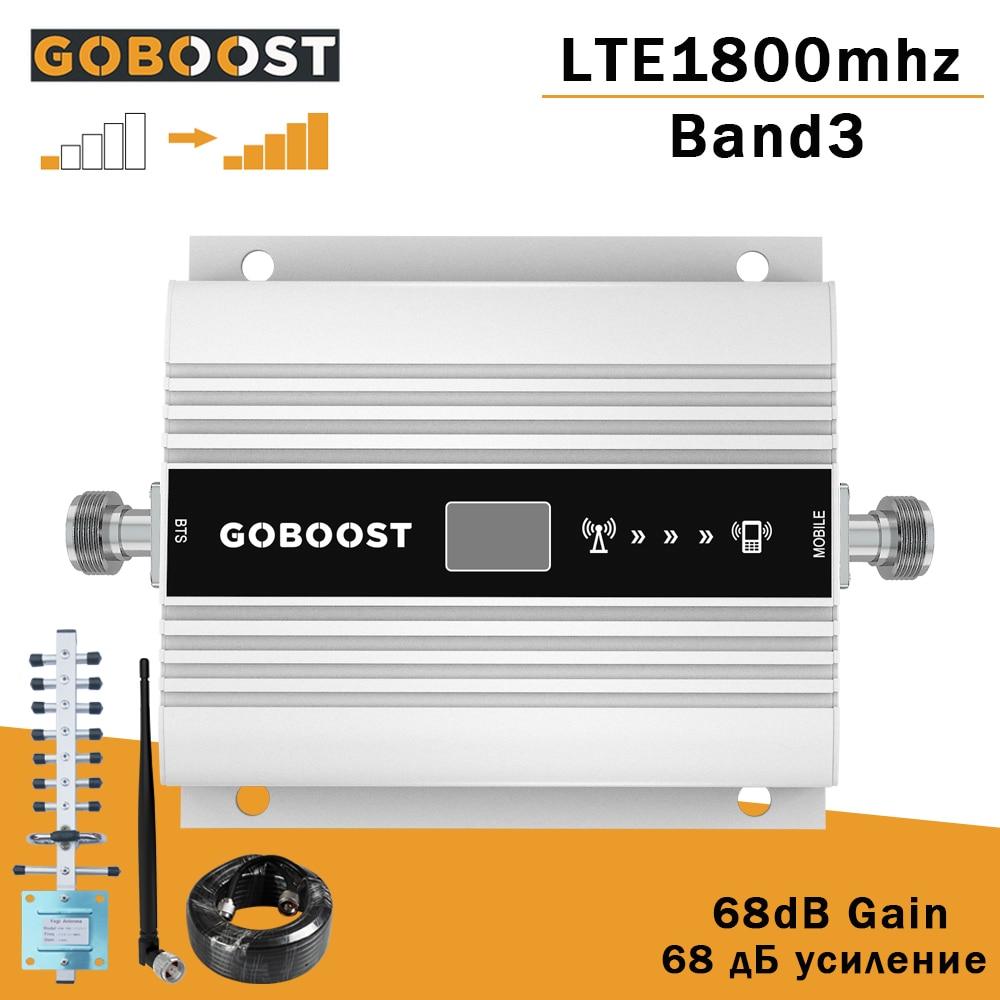 4G إشارة الداعم شاشة الكريستال السائل 1800mhz LTE DCS موبايل إشارة الداعم مكرر الفرقة 3 DCS1800Mhz الخلوية مكبر للصوت مكبر صوت صغير الحجم