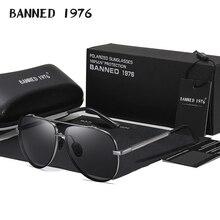 HD Polarized Big Men's Shades Metal frame Aviation Male Sunglasses Designer Men oculos High Quality
