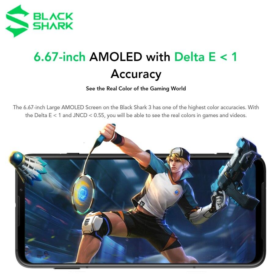 Фото3 - Глобальная версия черного цвета с изображением акулы 3 игровой телефон 6,67 дюйм. 8 Гб Оперативная память 128 Гб Встроенная память Snapdragon 865 5G мобильны...