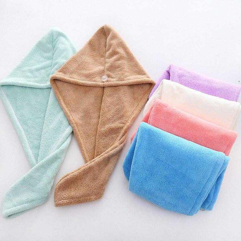 Magic Microfiber Shower Cap Hair Fast Drying Dryer Towel 25cmx65cm Bath Wrap Hat Quick Cap Turban Dr
