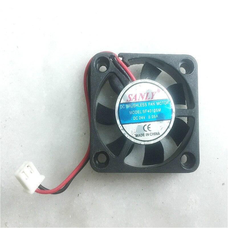 Ventilador de enfriamiento de ordenador PC cuadrado de 2 pines 40mm cc 12V negro para tarjeta de Video, Mini ventilador eléctrico, ventilador de refrigeración en miniatura, ventilador de radiador
