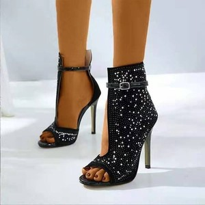 Super High-heeled Women Shoes Stiletto Fashionable Dress Women's Single Shoes Wedding Shoes Black Heels Zapatos De Mujer