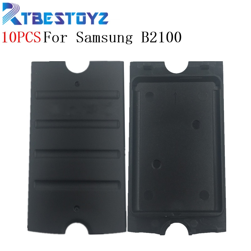 10 قطعة B2100 الخلفية الإسكان غطاء باب البطارية الإسكان لسامسونج GT-B2100 هيكل للهاتف الباب مع شعار