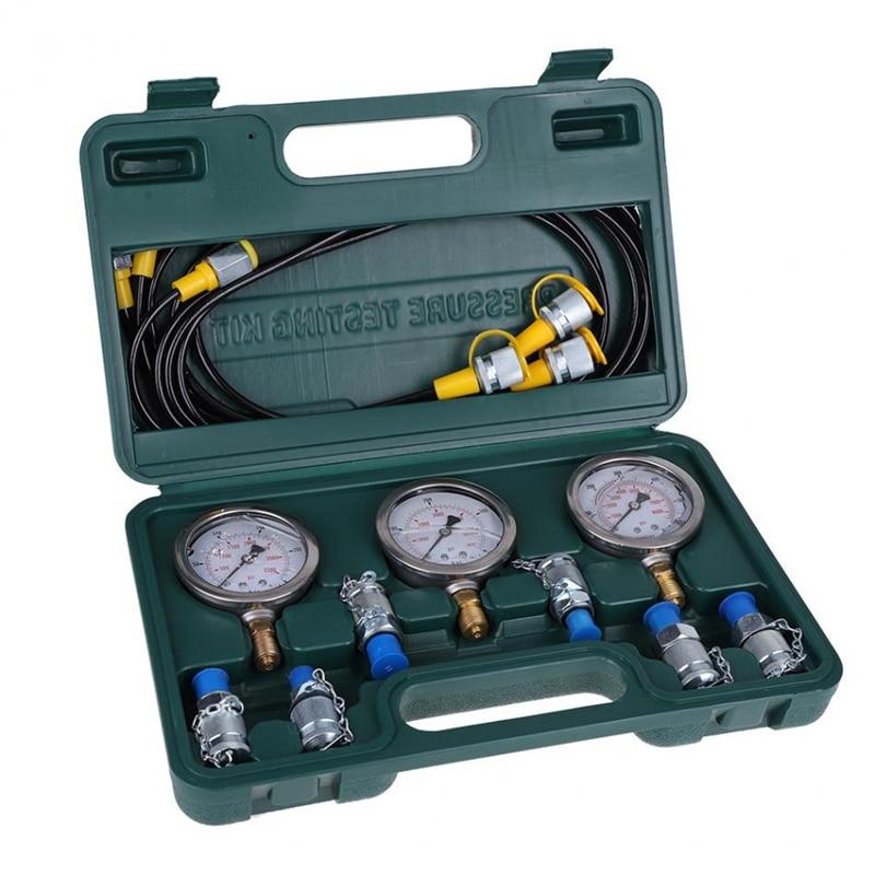 مجموعة اختبارات طبّية الضغط الهيدروليكي للحفارة الهيدروليكية مع وصلة الخرطوم وأدوات القياس