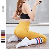 women sports high waist fitness tights cropped pants girl stretch seamless yoga pants suit running home gym soft slim leggings