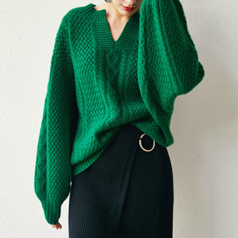 Winter New Women Woolen Vintage Sweater Casual Female Winter Woman Autumn Cashmere Fashion Jumpers Warmth Sweater Ladies Tops