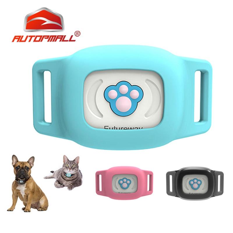 Localizador de perro GPS para mascotas localizador de perro por GPS a prueba de agua IP67 WiFi Anti-Pérdida LBS geocerco remoto cierre DownPet GPS Seguimiento de aplicación gratis