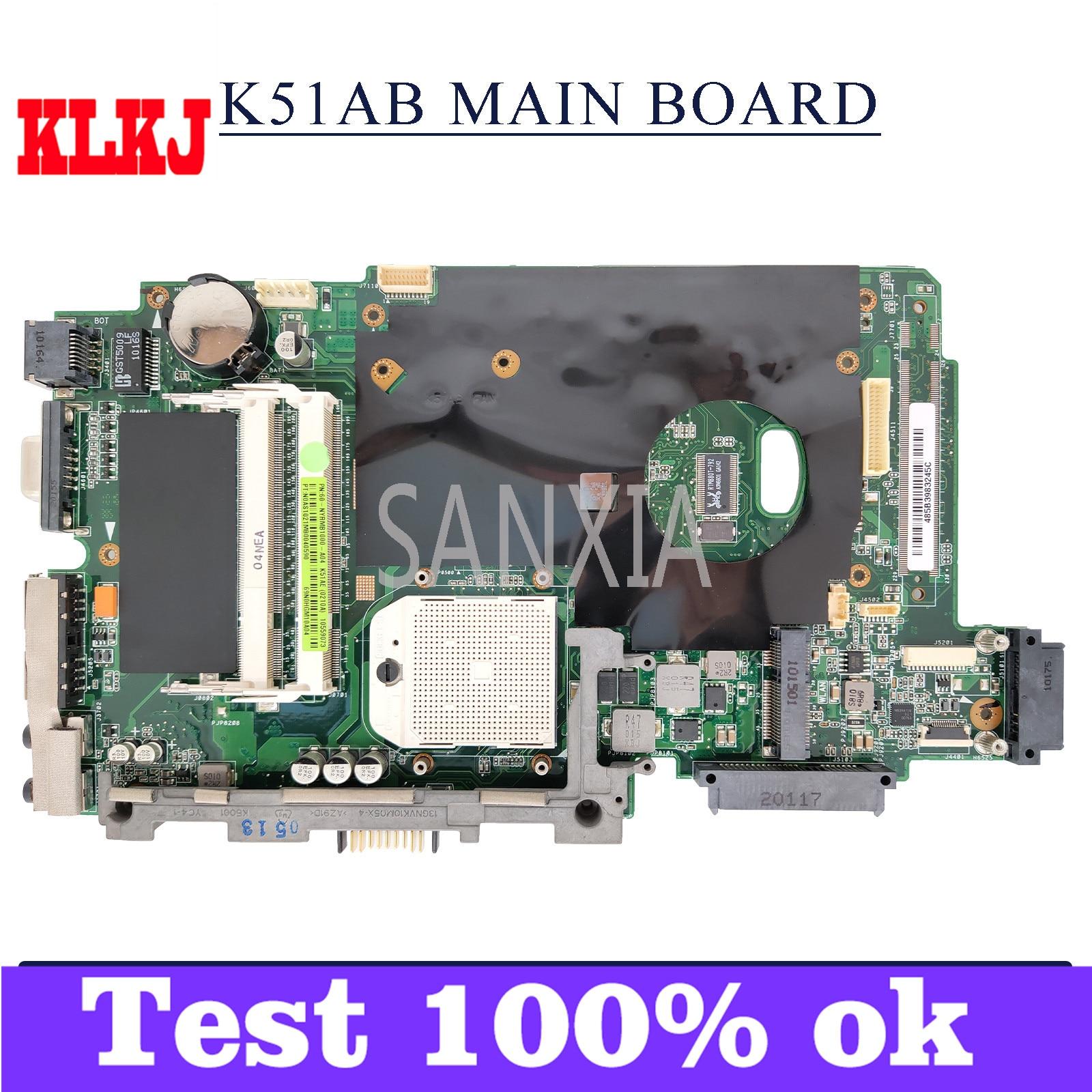 لوحة أم للكمبيوتر المحمول KLKJ K51AB لـ ASUS K51AB K51AF K51AE K51A لوحة رئيسية أصلية