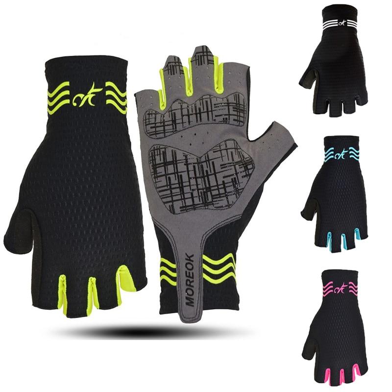 Non-slip Lycra Mesh cycling glove fingerless Sport riding racing bicycle mittens MTB mountain road bike glove gel half finger
