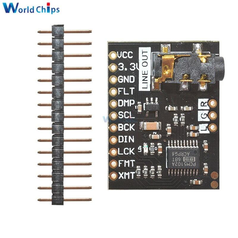 Звуковая плата ЦАП PCM5102A, pHAT 3,5 мм, стерео разъем, 24 бит, цифровой аудио модуль для Raspberry Pi Beyond ES9023 PCM1794