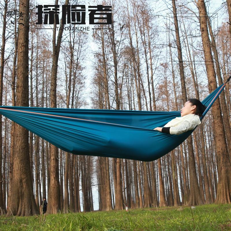 Для внешнего использования двойная отдых гамак для взрослых альпинизм Отдых гамак из парашютной ткани