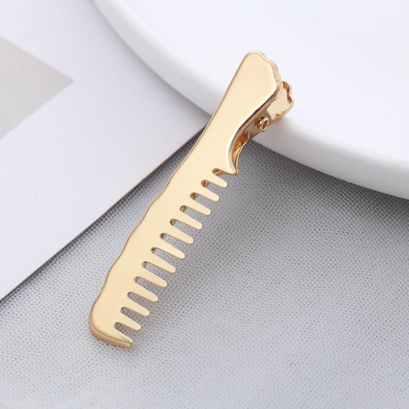 Korean personality fashion comb side clip Korean jewelry bangs hairpin duckbill clip hairpin headdress hair accessories