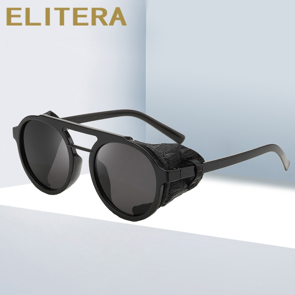 ELITERA Steampunk Sunglasses Luxury Retro Punk Ronud Sun Glasses Goggle For Women Men New 2020 Design lentes de sol hombre