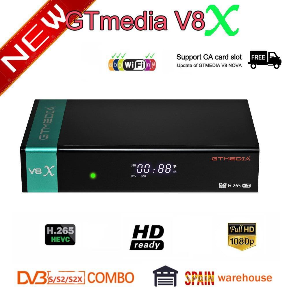Gtmedia-Receptor satélite V8X TLC DVB-s2/S2X completa hd h.265 just as que gtmedia...