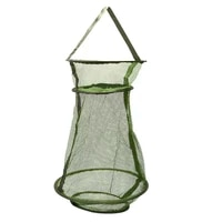 hotfishing care creel tackle soft rubber landing net fishing net cast fishing network cage accessories for fish tackle tools