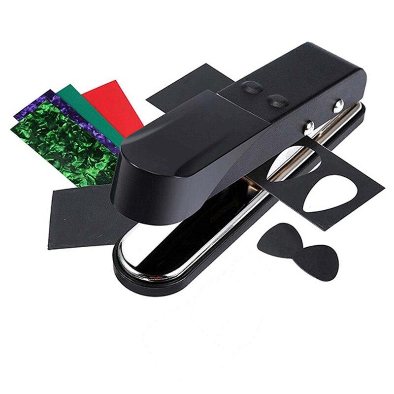 Dropship-punzón de púa de guitarra DIY Premium con tiras de celuloide de PVC y lija de púa de guitarra Premium