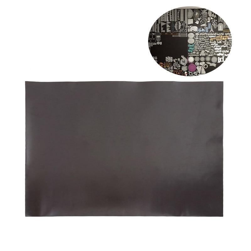 10pcs/lot 21X29.7Cm Self Ribber Soft Magnet Sheet Black Magnetic Mats for Cutting Dies Crafts Storage One Side Fridge Magnet