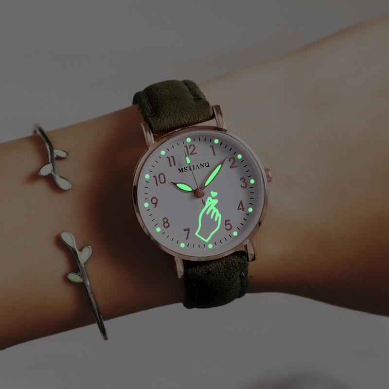 2021 Ladies Wrist Watches Luminous Women Simple Watches Casual Leather Strap Quartz Watch Clock Montre Femme Relogio Feminino fashion simple ladies wrist watches luminous women watches casual leather strap quartz watch clock montre femme luxury gift