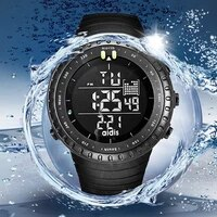 mens sports watch black tactical army waterproof led backlight digital watch alarm big face stopwatch military watch