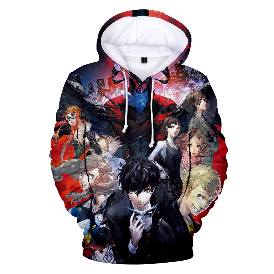 2019 Casual Hoodie Persona 5 3D Hoodies Men/women Autumn Fashion Harajuku Anime Print Hoodie 3D Persona 5 Easy Sweatshirts