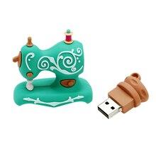 Memory Stick Sewing Machine Pendrive 64GB U Disk 256 128 4 16 gb Pen drive 32GB USB Flash drive ThumbDrive Tailor Creative gift