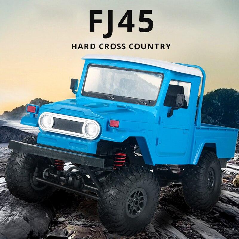 MN modelo MN45 112 Auto coche RC 4WD MÁQUINA DE Radio Control DE COCHES FJ45 todoterreno camioneta Jeep en el mando a distancia, juguetes para niños