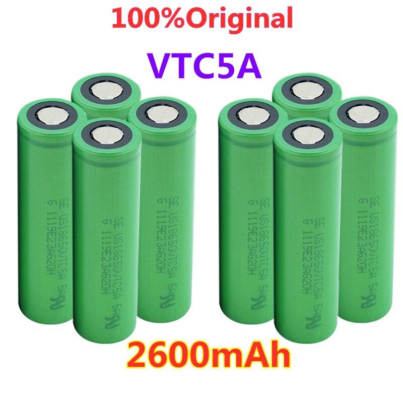 18650 li-po batería 2600mAh VTC5 30A alto drenaje 18650 Li-ion batería recargable de litio para baterías de linterna