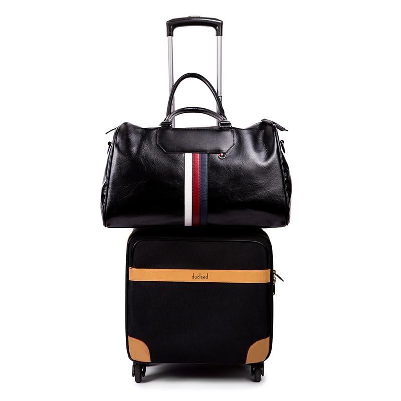 Wholesale Weekender Overnight Bag,Large Carry on Duffel Bag Portable Business Leisure Men's Bag,PU Waterproof Gym Sports Handbag