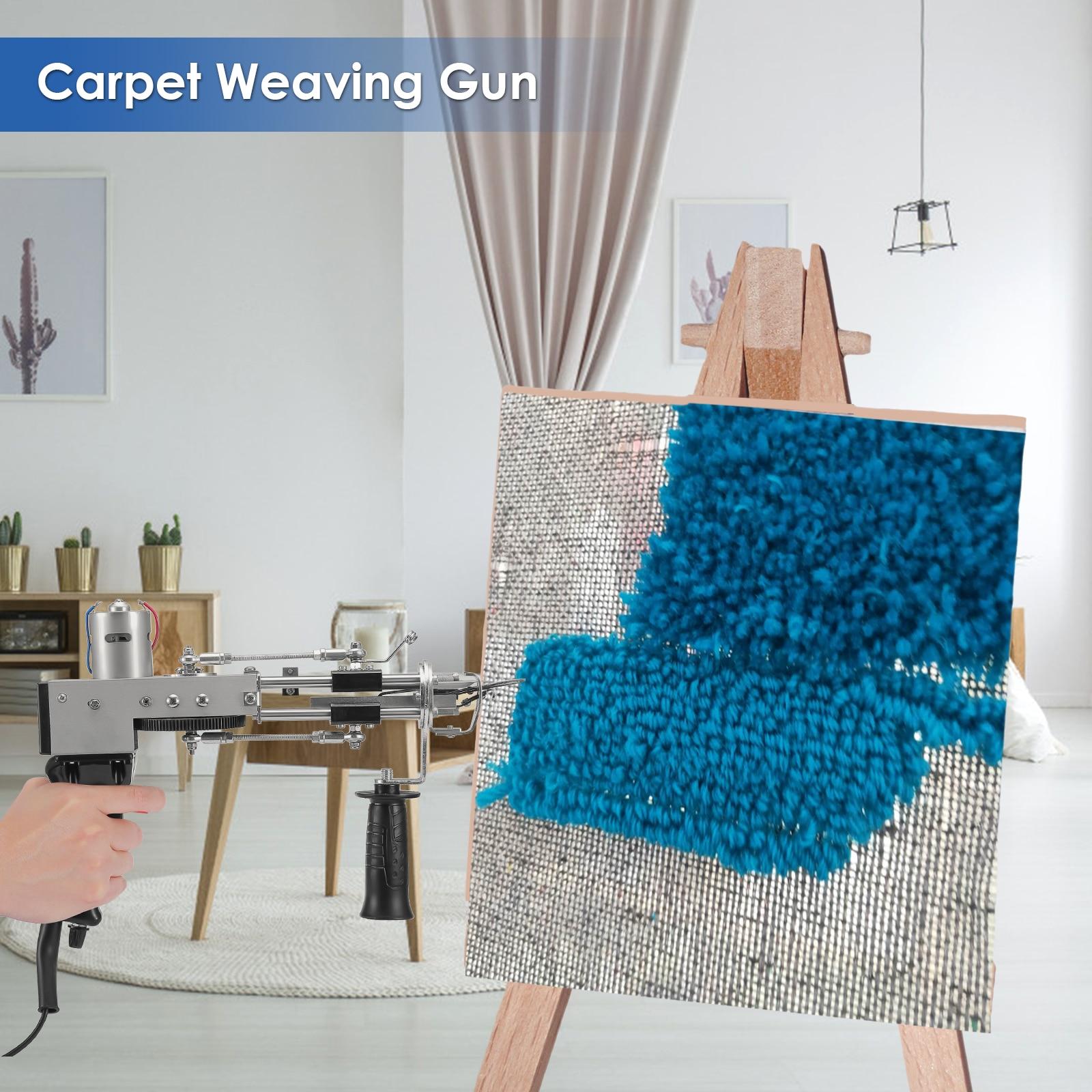 Electric Carpet Tufting Gun Carpet Weaving Machine Flocking Machine Industrial Embroidery Machine Cut Loop Pile Knitting Machine enlarge