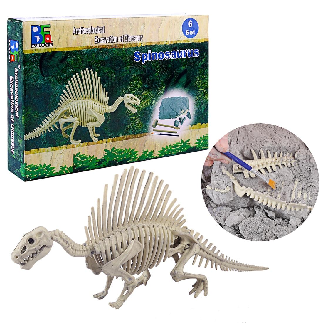 Children Creative Educational Dinosaur Archaeology Excavation Toys - Spinosaurus  Ceratosaurus