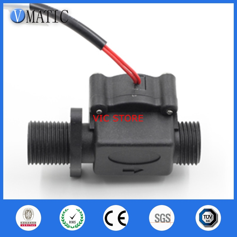 """Envío Gratis G1/2 """"medidor de combustible Gps diferencial VC678 Sensor electrónico Reed interruptor magnético de flujo de agua de plástico"""