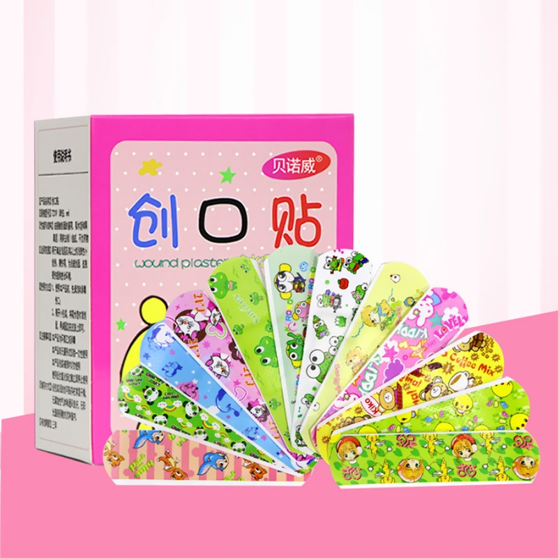 Cute Cartoon Children Band Aid Waterproof Breathable Adhesive Bandages First Aid Emergency Hemostatic Sterile Stickers for Kids