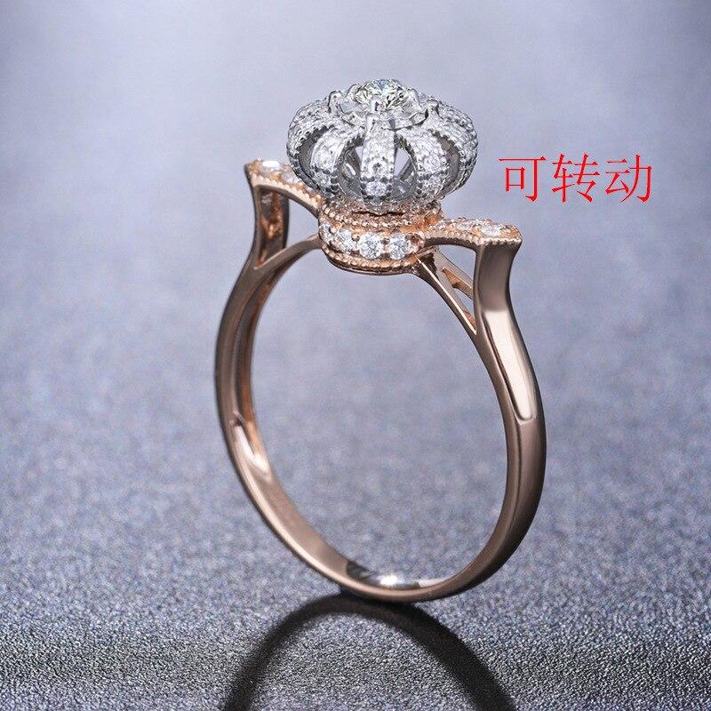 Женское-кольцо-из-розового-золота-с-драгоценным-камнем-14-к-15-карат