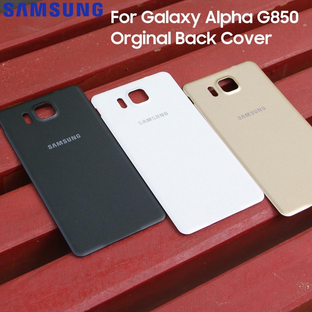 Caixa original capa traseira casos para samsung galaxy alpha g850 g850a g850f g850y g8509v g8509v g8508s telefone porta da bateria traseira